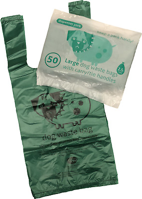 Large EXO bio-plastic degradable Tie-Handle Dog Waste / Doggy Poo Poop Bags