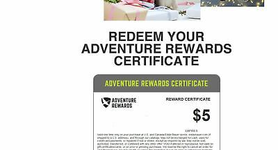 Eddie Bauer $5 USD Reward Gift Certificate expire April 6 online or instore