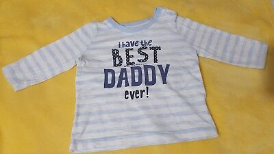 Boys Long Sleeved Top 6-9 Months Best Daddy Matalan