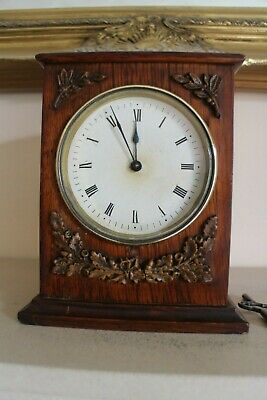 Antique  Regency rosewood mantle clock timepiece 8 day