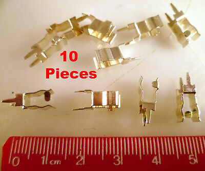 10x Brass Fuse Clips PCB Mounting Fuse Holder Clips Terminal Schurter Fit 5x20mm