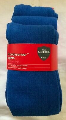 New Marks And Spencer Girls 3 Bodysensor Tights Shoe Size Uk 5-6 Years