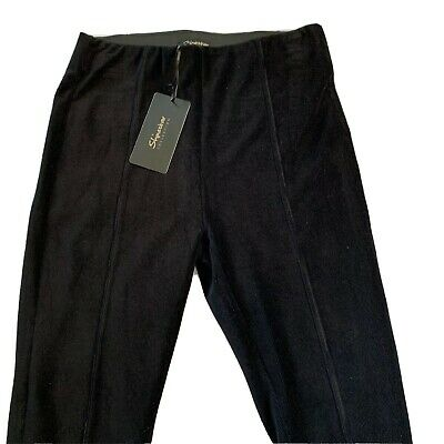 Shinestar Collection Womens Black Legging  Corduroy Like Stretch Pants Size S M