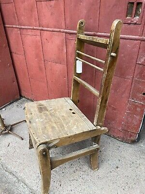 Antique Transform Chair Ladder General Store Porch Ben Franklin Library Rustic
