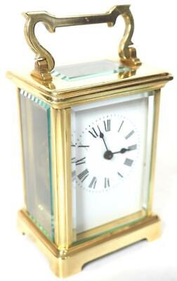 Awesome Antique French 8 Day Carriage Clock Lever Platform French Mantel Clock