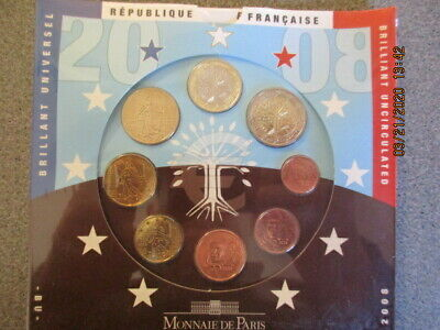 2018 France 8-Coin Standard EURO Brilliant Uncirculated Set