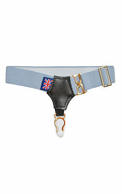 Navy Blue Crosses Sock Suspenders from Hunt /& Holditch #778-01