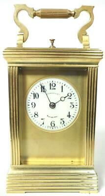 Fine Antique French 8 Day Carriage Clock Ridge Case Repeater French Mantel Clock
