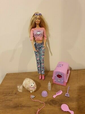 Vintage Barbie Kitty Fun Doll With Pet Cat Marshmallow & Accessories VGC