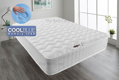Memory Foam Pocket Sprung mattress 2000 Quilted 3FT 4FT 4FT6 double 5FT king