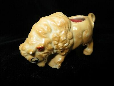 Vintage Porcelain Lusterware Buffalo Pin Cushion - Japan
