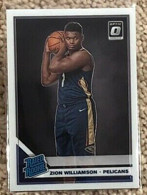 2019-20 Donruss Optic Basketball ZION WILLIAMSON Base Rated Rookie RC #158