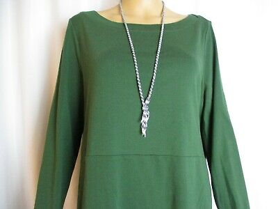 J. Jill Perfect Pima Green Olive Long Sleeve Scoop Neck Blouse Size M -Y