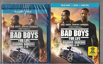 Bad Boys For Life Will Smith & Martin Lawrence 2 Discs Blu-Ray & DVD SLIPCOVER