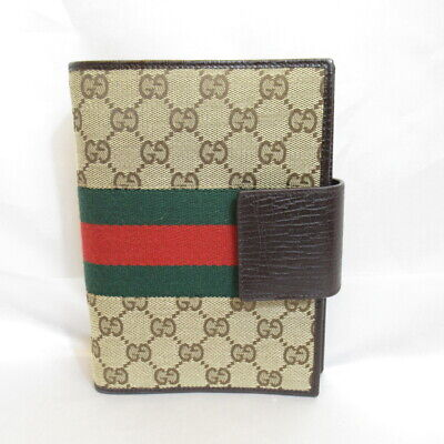 Authentic GUCCI GG Canvas Notebook (720216)