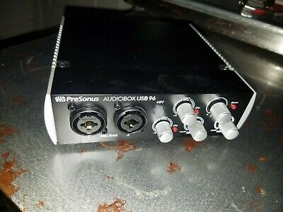 PreSonus AudioBox USB Audio Interface with power cord.