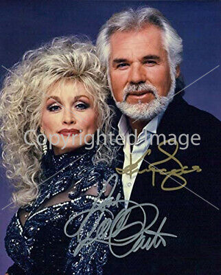 8.5x11 Autographed Signed Reprint RP Photo Kenny Rogers Dolly Parton