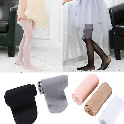 Kids Child Girls Ultra-thin Breathable Tights Pantyhose Solid Color Dance Pants