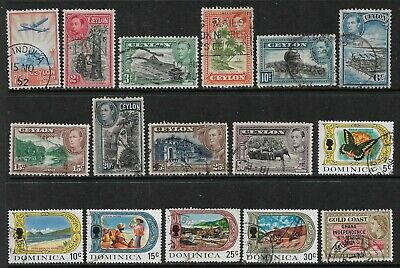 BRITISH COMMONWEALTH Interesting Early Mint and Used Issues Selection (Mar 306)