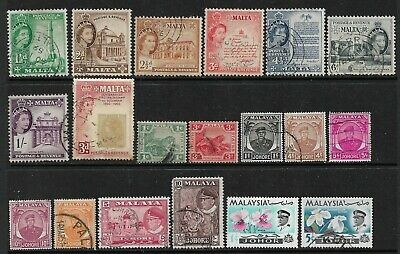 BRITISH COMMONWEALTH Interesting Early Mint and Used Issues Selection (Mar 097)