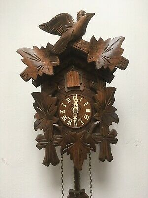 Vintage Black Forest Cuckoo Clock In Stunning Workikg Condition.