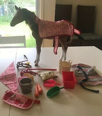 Our Generation Thoroughbred Dolls Horse/Foal With Extra Accessories
