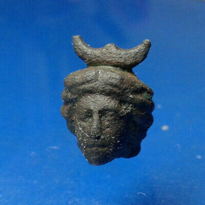 Selene (Roman Luna), goddess of the Moon. Ancient Roman Bronze Artifact.