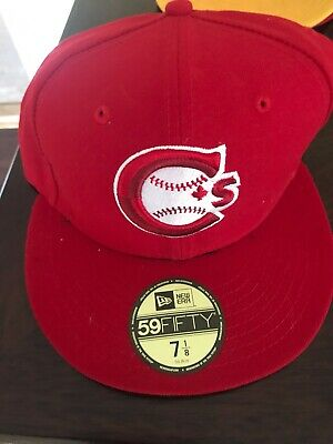 Vancouver Canadians New Era Home Hat Red 7 1/8
