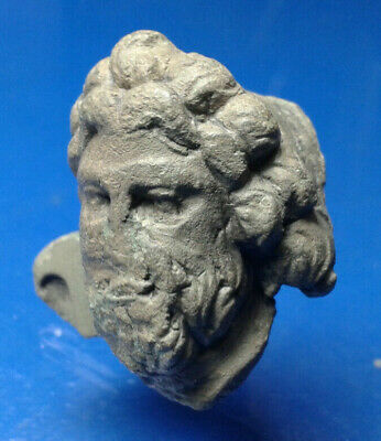 Zeus Greek God of the Sky and King of the Gods. Ancient Bronze Artifact.
