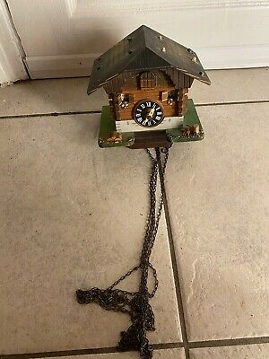 Vintage Lotscher Switzerland Musical Animated Cuckoo Clock