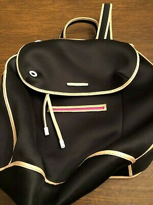 Juicy Couture Black Backpack with Pink / Tan Trim  - New
