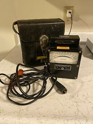 Weston Electrical Instruments Zero Corrector, AC Volts Panel Meter With Case