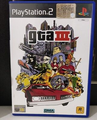Gta 3 grand theft auto III ps2 come nuovo, completo, playstation 2 italiano