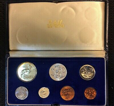 1967 South Africa Mint Uncirculated 7 Coin Set in Original Case - NICE !!!