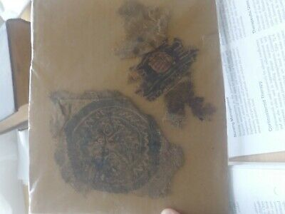 Rare 2 Ancient Egyptian Textiles 7th century late coptic 1400 years old.