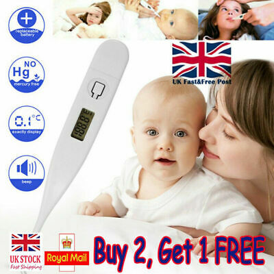LCD Digital Thermometer Medical Baby Adult Body Safe Ear Mouth Temperature Kids