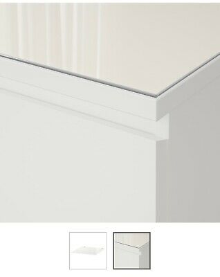 Glass Top for Ikea Malm chest of 6 drawers (3 by 3) Frosted White 160cm x 48cm