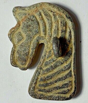 EXTREMELY RARE INDO GREEK LEAD HORSE PENDANT CIRCA 100 BC-AD 32.6gr 53mm