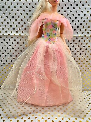 DRESS ONLY DOTW BARBIE DOLL PRINCESS OF CAMBODIA  BLUE /& GOLD GOWN ACCESSORY