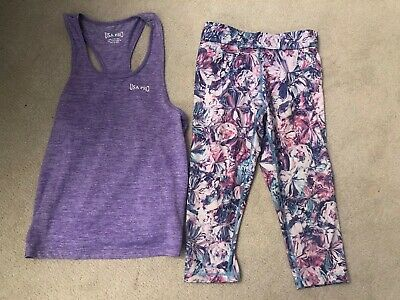 Girls Age 8 Gym Top And Leggings Usa Pro