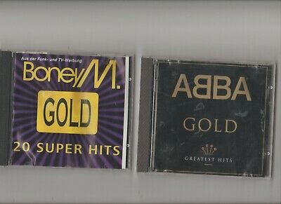 Abba : Gold Greatest Hits + Boney M : Gold 20 super hits / TWO CD Albums