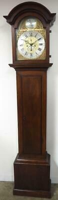 Superb Antique 8 Day Grandfather Clock English Oak Cased Striking Longcase C160
