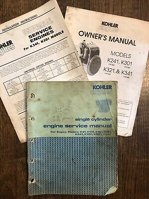 Kohler Single Cylinder Engine Service Manual K91 K141 K161 K181 K241 K301 K321