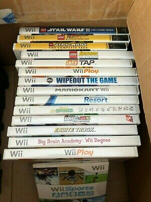 Nintendo Wii Game Lot of 14 games with Wii Sports in plastic sleeves