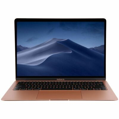 """Apple MacBook Air with Touch ID MVFM2LL/A 2019 13.3"""" Laptop Computer - Gold"""