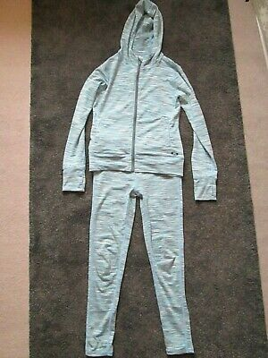 Girls Tracksuit Sports Leggings & Hoodie Zip Jacket   Age 8/9 Years - 2 items