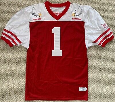 Vtg Budweiser Beer Limited Edition Football Jersey Eagle 1737/3000 Red White XL