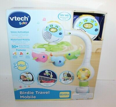 Vtech Baby Birdie Travel Mobile Age Birth+ Brand New 3-in-1