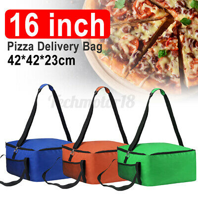 16'' Pizza Hot Food Delivery Bag Insulated Thermal Storage Holder Outdoor