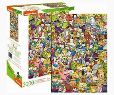 3000 piece Retro NICKELODEON '90's Character CAST Puzzle Licensed by AQUARIUS